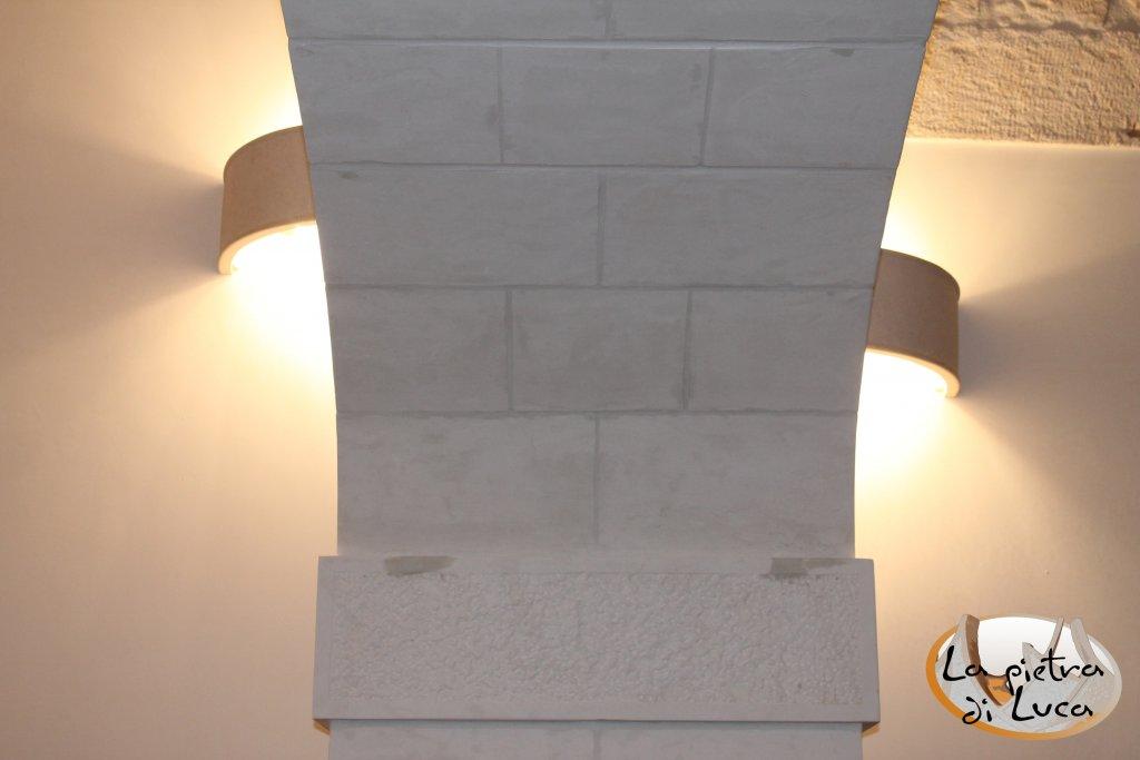 Applique wall lamps la pietra di luca stone design la